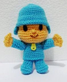 Crochet Mini Pocoyo Amigurumi- Finish Doll