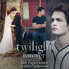 Bella and Edward's wedding attire. Jacob's motorcycle. Edward's baseball uniform. Need we say more? The Twilight Forever celebration continues at the Twilight Forever Fan Experience at Planet Hollywood in NYC. Join us Monday, November 4th at 6pm for the unveiling. Entry is on a first come, first served basis.http://bit.ly/twi_phfe