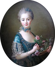 1764 Lady Amelia Darcy, 9th Baroness Conyers by François Hubert Drouais (Bowes Museum, Durham UK)