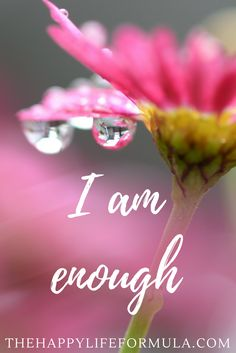 I am enough. Repeat this mantra daily and click through for more!