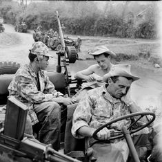 French; A squadron 5RC(Regiment Cuirassiers) equipped with armoured jeeps keep a constantly mobile patrol on The Plkain of Jars, Laos. April 53