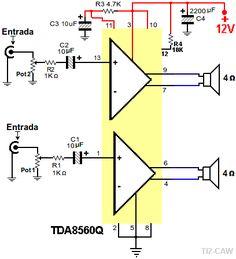 amplificador TDA8560Q