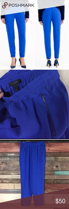 "J. Crew Turner Pant - Blue J. Crew Blue Turner Pants / Joggers - 0 // super cute and breezy, side zip pockets. Waist: 13"" // Inseam: 27"" // Rise: 10"" J. Crew Pants Track Pants & Joggers"