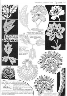 crochet flowers with diagram