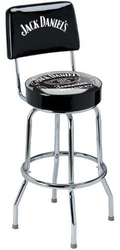 Jack Daniel's Label Bar Stool w/ Backrest by Jack Daniel. $119.98. Vinyl Seat and Backrest. Classic Jack Daniel's graphics. 360 degree rotating swivel. From the inspiration of the Jack Daniel's Whiskey brand comes the exclusiveline of officially licensed lifestyle, home decor and recreation room products.Like this beautiful Jack Daniel's bar stool. This is a premium qualityheavy duty stool that is constructed of chrome steel frames. It features a classic Jack Daniel'sgraphic...