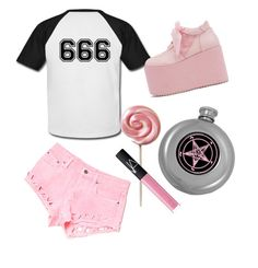 """""""The Devil made me do it"""" by shayne-bohner ❤ liked on Polyvore featuring Carmar, Y.R.U., NARS Cosmetics, women's clothing, women, female, woman, misses and juniors"""