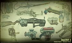 some of the late Adam Adamowicz's deign work for Fallout 3.  Adam succumbed to cancer earlier this week, but left a great deal of tremendous work to be remembered for