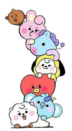 Easy Doodles Drawings, Kpop Drawings, Bts Name, Bts Wallpaper Lyrics, Bts Book, Bts Backgrounds, Line Friends, Bts Korea, Bts Chibi