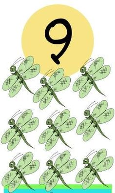 * Insecten! 9-10 Numbers Preschool, Math Numbers, Preschool Math, Alphabet And Numbers, Learn To Count, Play To Learn, Math Games, Math Activities, Teaching Patterns