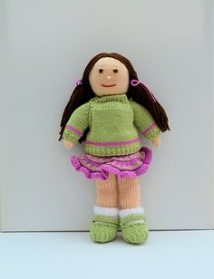 Jemima January - A Knitted Rag Doll - Beginners Knitting Pattern