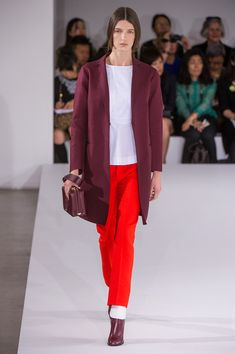 Jill Sander Spring 2013 RTW; narrow slacks, as fashionable sportswear styles of the early 1950s