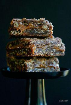 Oatmeal Brownie Milky Way Bars.