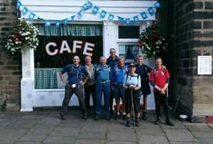 Walkers selfie to Sids Cafe sent to www.holmfirth.info