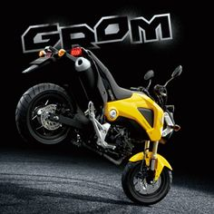 Motorcycle used for leisure [Honda GROM] 2014 Honda Grom, Honda Grom 125, Scooter Bike, Moto Bike, Honda Motorcycles, Cars And Motorcycles, Honda Grom Custom, Motogp Valentino Rossi, Lamborghini Gallardo