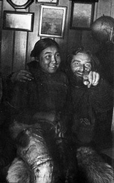 Explorer Peter Freuchen and his first wife Navarana
