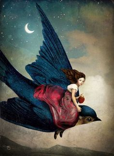 """Fairytale Night"" Digital Art by Christian Schloe posters, art prints, canvas prints, greeting cards or gallery prints. Find more Digital Art art prints and posters in the ARTFLAKES shop. Art And Illustration, Fantasy Kunst, Fantasy Art, Fantasy Fairies, Max Ernst, Fairytale Art, Inspiration Art, Magritte, Canvas Prints"