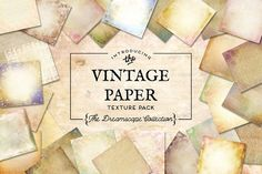 Vintage Paper Textures Dreamscape by Eclectic Anthology on @creativemarket