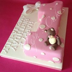 Number one cake for a girl.. Edible keepsake bear. The number is hand carved.