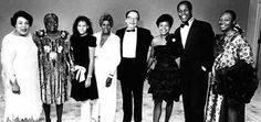 Opening Night of the old Lorraine Hansberry Theatre at 620 Sutter Street in 1988. I'm sorry I can't ID everyone in the photo, but counting from left to right: #2 Esther Rolle, #4 Mamie Hansberry (Lorraine's Sister), #5 Robert Nemiroff (Lorraine's Husband), #7 Danny Glover. Sorry -- no better quality scan exists.