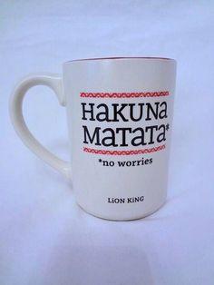 """HUKUNA MATATA """" * No Worries"""" Lion King Disney Hallmark Coffee / Tea Mug Cup.  $22.95"""