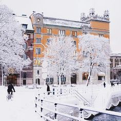 Stockholm right now. Winter is back! ❄️❄️❄️ #visitstockholm