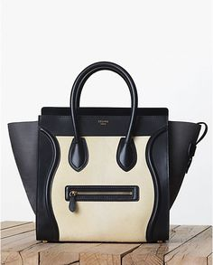 Celine Yellow Pony Calfskin Mini Luggage Bag - Fall 2013