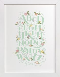 Blooming letters by Jennifer Wick at minted.com