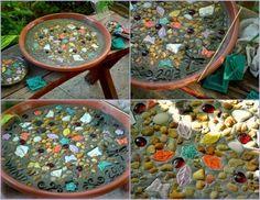 Making a Mosaic Stepping Stone