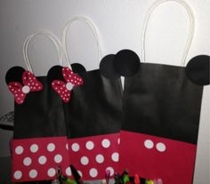 Minnie Mouse Goodie Bags .. OMG cant wait for My lil ones bday