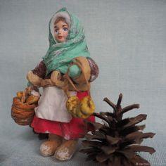 """Елочная игрушка из ваты -""""Танюша"""" – купить в интернет-магазине на Ярмарке Мастеров с доставкой"""