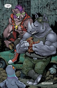Ninja Turtles Art, Teenage Mutant Ninja Turtles, Old Cartoons, Classic Cartoons, Comic Books Art, Comic Art, Tmnt Characters, Bebop And Rocksteady, Arte Dc Comics