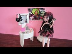 How to make a doll vanity with a recycled shampoo bottle - YouTube