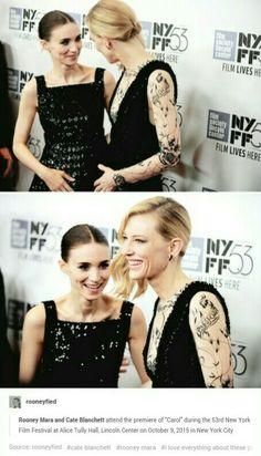 Rooney Mara + Cate Blanchett 10/9/15