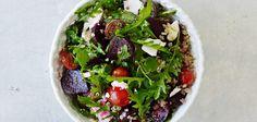 Warm freekeh and beetroot salad