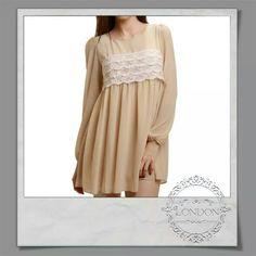 #Swing #chiffon #dress #peach #colour