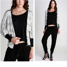 ❗️SALE❗️Woven V-Neck Cardigan Limited Quantity! 3/4 dolman ribbed cuff sleeves. Color: off white, grey, black. Material: 66% rayon, 30% polyester, 4% spandex. Price is FIRM unless bundled. 10% off on bundles! Jackets & Coats