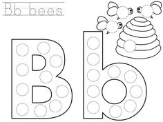 do-a-dot-letter-b-printable - Funny crafts Preschool Letter B, Letter B Activities, Letter A Crafts, Apple Activities, Preschool Activities, Free Printable Alphabet Worksheets, Letter Worksheets For Preschool, Kindergarten Worksheets, Preschool Kindergarten