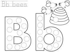 do-a-dot-letter-b-printable - Funny crafts Dot To Dot Printables, Printable Letters, Letter Templates, Letter B Worksheets, Preschool Worksheets, Dot Letters, Dots Free, Do A Dot, Alphabet Activities