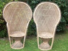 Wicker Chairs- very popular in the 70s. reminds me of the Addams Family tv show.  Morticia sat in one as I remember.
