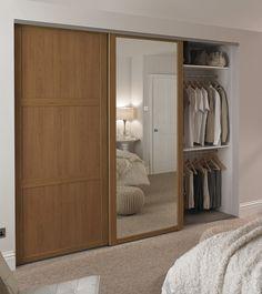 Oak Shaker panel door and Oak Shaker mirror door