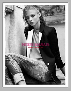 Anna Selezneva Keeps it Understated in Pierre Balmains Spring 2013 Campaign
