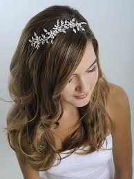 bridal headpieces hair down - Google Search