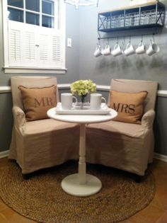 would like a nice nook area in bedroom to relax. ---- I love the coziness of this space