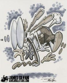 "Roger Rabbit by James Silvani for ""Roger Rabbit"" Week at AshcanAllstars.com"