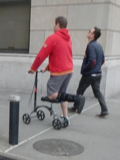 #KneeScooter Find out more about mobility aids at http://www.disabledbathrooms.org/knee-scooter.html