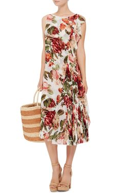 Floral Printed Carmen Dress by LENNY  Now Available on Moda Operandi