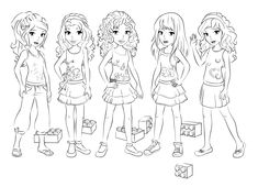 lego friends coloring 3 BirthdaysLegoFriends Pinterest