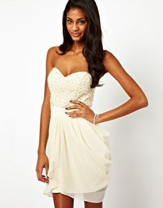2a9a161dab Image 1 of Lipsy VIP Sequin and Pearl Bust Dress Lipsy Vip