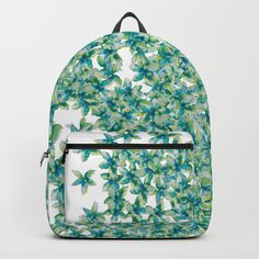 Blue and Yellow Forget Me Knots Backpacks by ANoelleJay | Society6 Fabulous and bright by @anoellejay @society6 back to school solutions