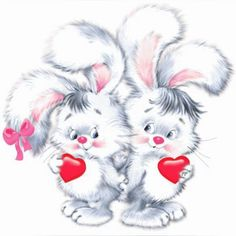 ⚡Bunnies with Heart png Clipart Valentines Day Drawing, Valentines Day Birthday, Valentine Day Love, Bunny Art, Cute Bunny, White Bunnies, Clip Art, Wish Gifts, Baby Sewing